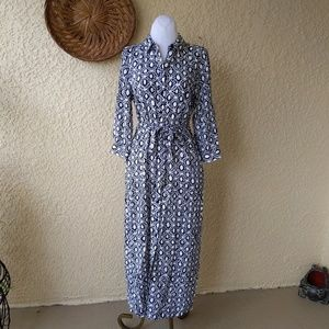 Talbot's button down  maxi dress with belt